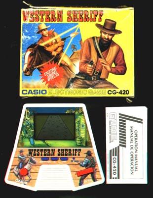 Casio Western Sheriff (1987, LCD, 2 AA Batteries, Model# CG-420 )