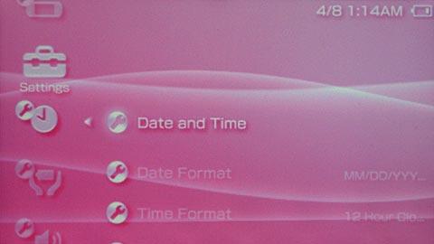 PSP Screen Colors