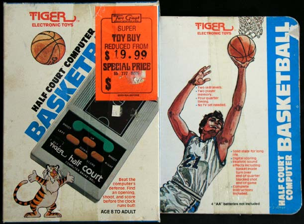 Tiger Half Court Basketball 1979 LED 4 AA Batteries Model 7 470